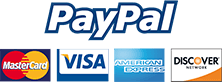 Secured payments by PayPal. No PayPal account needed